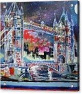 Goodnight Tower Bridge Acrylic Print