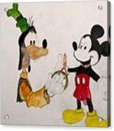 Goofy And Mickey Acrylic Print