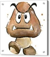 Goomba Watercolor Acrylic Print