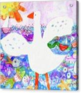 Goose At The Beach Acrylic Print