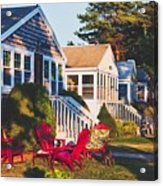 Goose Creek Beach Cottages Acrylic Print