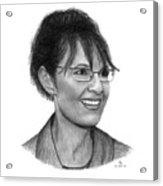 Gop Vp Candidate Sarah Palin Acrylic Print
