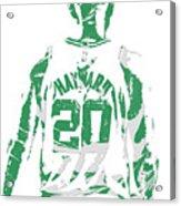 Gordon Hayward Boston Celtics Pixel Art T Shirt 5 Acrylic Print