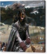 Gordon Setter Art Canvas Print - Philip Iv Hunting Wild Boar  Acrylic Print