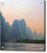 Gorge Of The Li River Acrylic Print