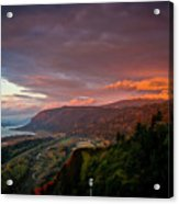 Gorge Sunset Acrylic Print