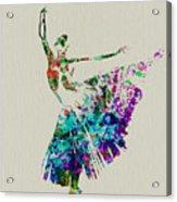 Gorgeous Ballerina Acrylic Print by Naxart Studio