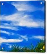 Gorgeous Blue Sky With Clouds Acrylic Print