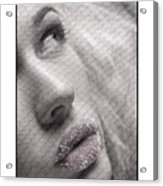 Gorgeous Girl With Sugar On Her Lips Acrylic Print