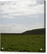 Gorgeous Grass Field With Clouds In Ireland Acrylic Print