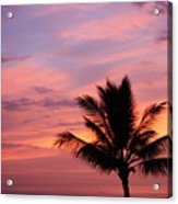 Gorgeous Hawaiian Sunset - 1 Acrylic Print