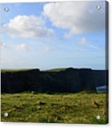 Gorgeous Seascape Along The Cliffs Of Moher In Ireland Acrylic Print