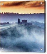 Gorgeous Tuscany Landcape At Sunrise Acrylic Print