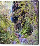 Gorman Falls At Colorado State Park IIi - San Saba Texas Hill Country Acrylic Print