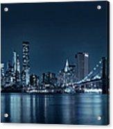 Gotham City Skyline Acrylic Print
