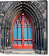Gothic Church Door Acrylic Print