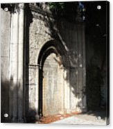 Gothic Darkness. Old Gate Acrylic Print
