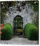 Gothic Entrance Gate, Walled Garden Acrylic Print