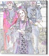 Gothic Ice Cream Girl Acrylic Print