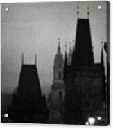 Gothic Nights Acrylic Print by Sharon Coty
