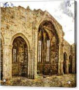 Gothic Temple Ruins - San Domingos - Vintage Version Acrylic Print