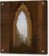 Gothic Windows In The Ruins Of The Monastery At Oybin Acrylic Print