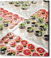 Gourmet Desserts Acrylic Print