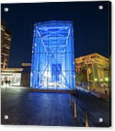 Goverment Center Boston Ma In Blue City Hall Acrylic Print