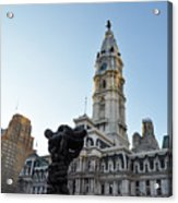 Government Of The People And City Hall Philadelphia Acrylic Print