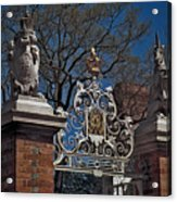 Governor's Palace Gate Detail Acrylic Print