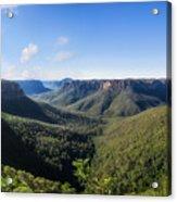 Govetts Leap Lookout Panorama, Australia Acrylic Print
