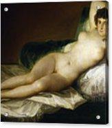 Goya: Nude Maja, C1797 Acrylic Print