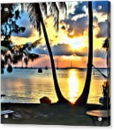Grabbers Sunset Acrylic Print
