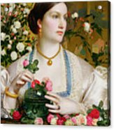 Grace Rose Acrylic Print by Anthony Frederick Augustus Sandys