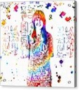 Grace Slick Jefferson Airplane Paint Splatter Acrylic Print