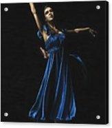 Graceful Dancer In Blue Acrylic Print
