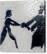 Graffiti Art In Black And White Along Streets Of Valparaiso-chile Acrylic Print