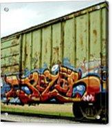 Graffiti Boxcar Acrylic Print by Danielle Allard
