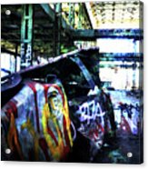 Graffiti Car Acrylic Print