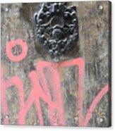 Graffiti Door Knocker Acrylic Print