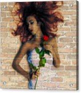 Graffiti Girl Acrylic Print