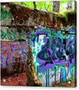 Graffiti Illusion Acrylic Print