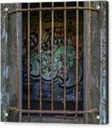 Graffiti Is Barred Acrylic Print