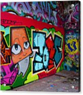 Graffiti London Style Acrylic Print