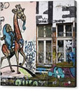 Graffiti On Wall At Metelkova City Autonomous Cultural Center Sq Acrylic Print