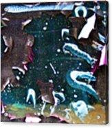 Graffiti Peeling Acrylic Print
