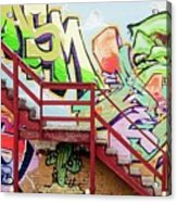 Graffiti Steps Acrylic Print