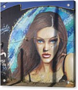 Graffiti Street Art Mural Around Melrose Avenue In Los Angeles, California  Acrylic Print