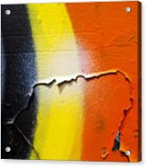 Graffiti Texture Iv Acrylic Print by Ray Laskowitz - Printscapes