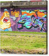 Graffiti Under A Bridge Acrylic Print